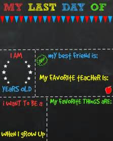 Day Of School Sign Template by Day Of School Printable Chalkboard Sign The Shady