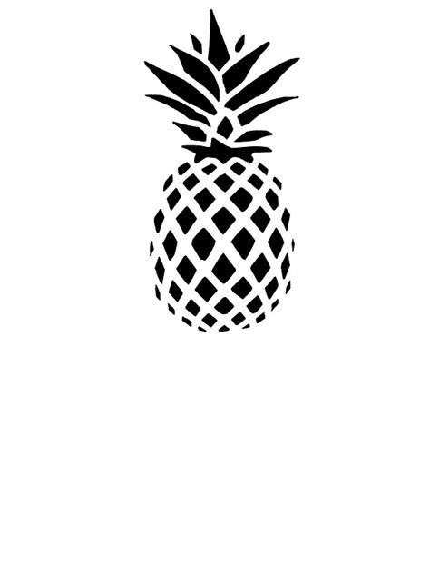 Pineapple Home Decor by Quot Pineapple Silhouette Quot Stickers By Laughattack Redbubble