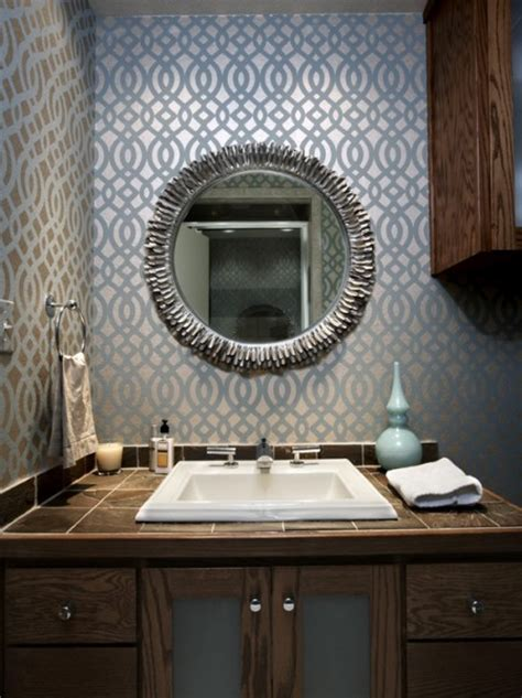 designer bathroom wallpaper bathroom wallpaper beautiful homes design
