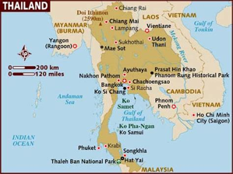 thailand map ai o mar do poeta praias da 194 ndia