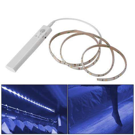 motion sensor led strip light battery operated 1m led strip light wireless pir motion