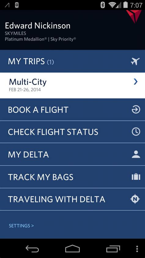 delta app android delta air lines app updated for android 4 4 kitkat fixes throws in ui tweaks for free android