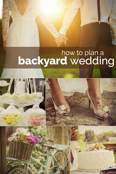 the secrets to planning a backyard wedding