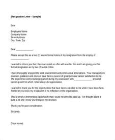Employer Resignation Letter To Employee by 23 Simple Resignation Letters Free Premium Templates