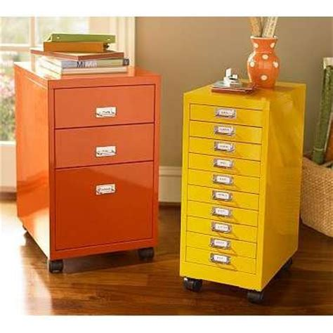 Yellow Metal Filing Cabinet Color It Simple Filing Cabinets Made Beautiful
