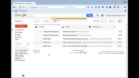 gmail bandeja de entrada gmail configuraci 243 n bandeja entrada youtube