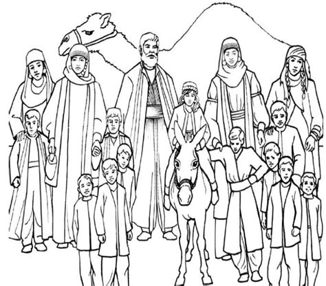 coloring pages for children s ministry jacob s family coloring page children s ministry