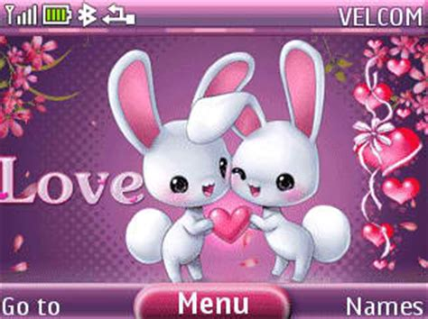 themes love nth cute love animation theme nokia c3 themes