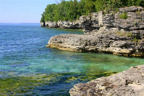 In Door County by Panoramio Photo Of Door County Wi Cave Point State Park