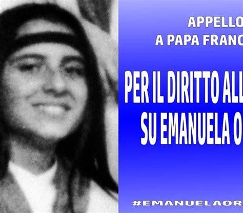emanuela orlandi l appello fratello di emanuela orlandi a papa