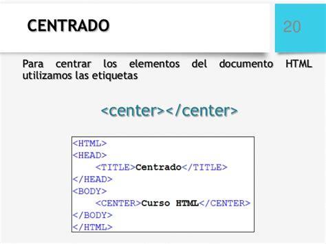 imagenes en html alinear curso html