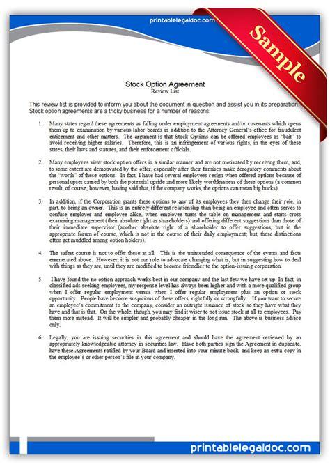 Employee Stock Options Agreement Esop Agreement Template
