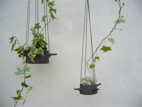 hanging pot hanging flower pots with horns from which they hangs