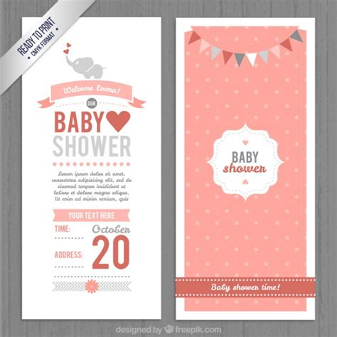 baby shower invitation vector free
