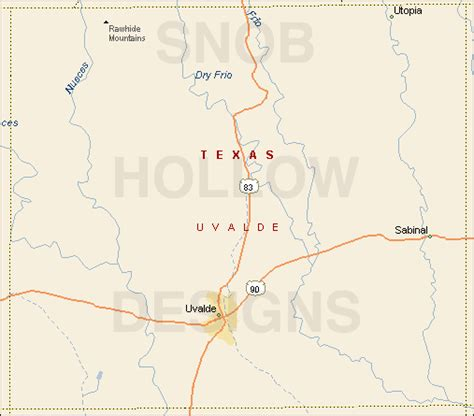 uvalde texas map uvalde county texas color map
