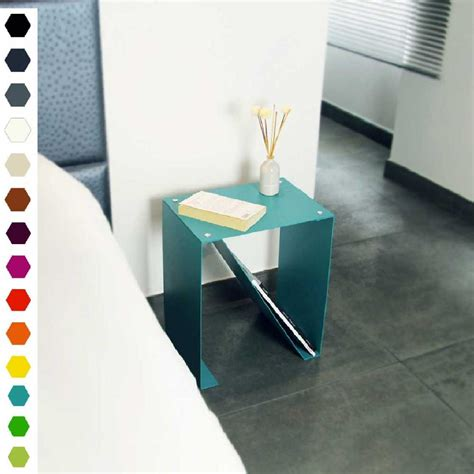 Table De Chevet Acier by Table De Chevet Haut De Gamme Design Origami Nox En Acier