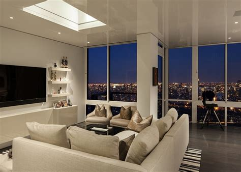 livingroom nyc scintillating views and smart lighting shape posh