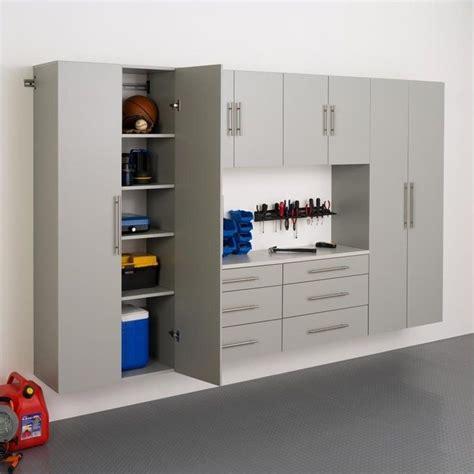 Laminate Garage Cabinets by Prepac Hangups 30 Quot Storage Cabinet In Light Grey
