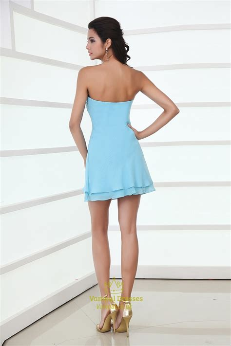 light blue mini dress light sky blue mini prom dress light blue