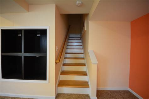 interior stair finishing ideas awesome basement stairs finishing ideas with modernize