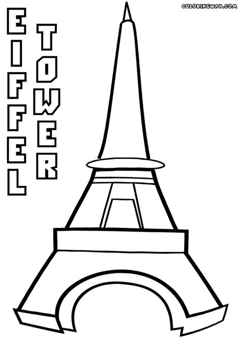 eiffel tower coloring pages coloring pages to download