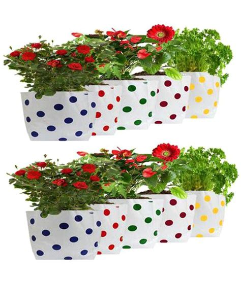 home decor items wholesale price trust basket set of 10 premium dotted grow bag outdoor