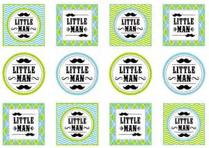 Baby Shower Thank You Ideas - mustache theme baby shower my baby registry