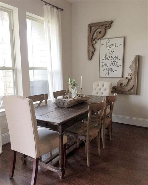 Accessories For Dining Room Table 55 Rustic Farmhouse Dining Room Table And Decor Ideas