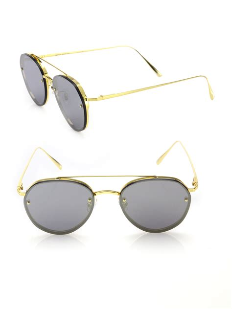 Sunglasses Gentle Hexa Aviator Tosca gentle debby 55mm aviatior sunglasses in metallic for lyst