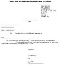 Reschedule Appointment Letter Template Medical Appointment Rescheduling Letter Submited Images