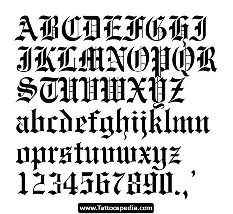 tattoo font gangster old english gangster tattoo lettering styles 06 http