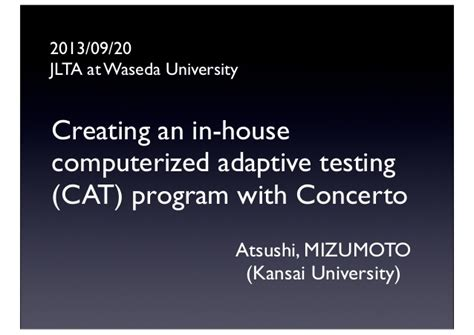 computerized adaptive and multistage testing with r using packages catr and mstr use r books creating an in house computerized adaptive testing cat
