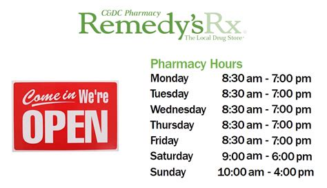 drugs hours c dc orthopaedic services c dc pharmacy