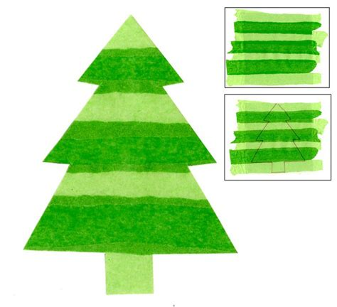 tissue paper christmas tree christmas ideas pinterest