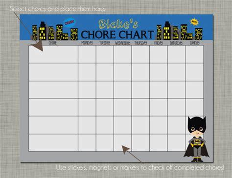batman printable reward charts 7 best images of batman chore reward chart printable