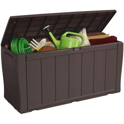 home design products keter keter sherwood storage chest 270l garden storage b m