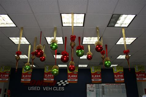balls and shaped christmas ceiling decorations large red