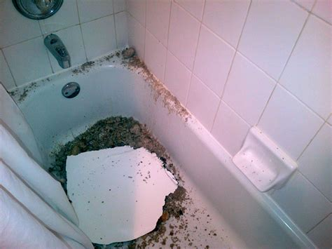 bathroom ceiling leaking apartment part of bathroom ceiling collapses how much compensation