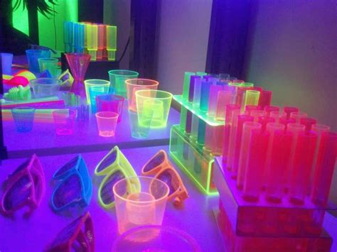 party themes glow in the dark pterest neon best glow in the dark slumber party ideas on