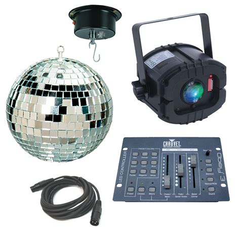 Led Motor 3 Sisi led trispot color rgb pinspot american dj light with 16 quot mirror 2rpm motor dmx cable