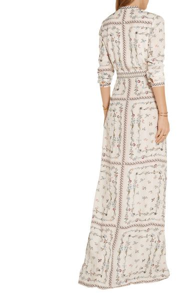 Dress Maxi Tasiena vilshenko tatiana floral print silk jacquard maxi dress net a porter