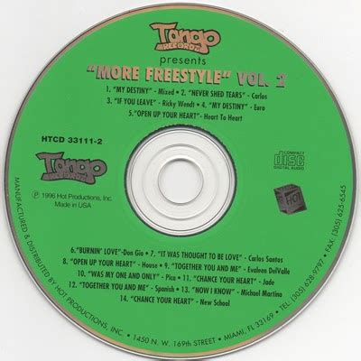 Us Records Index Volume 2 Freestyle Records Presents More Freestyle