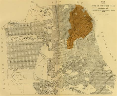 san francisco map before 1906 new exhibit shows san francisco s dramatic growth with