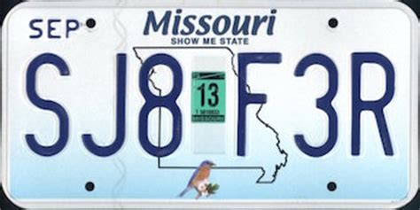 Missouri Vanity Plates by The Official Missouri State License Plate The Us50