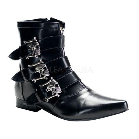 mens demonia boots demonia brogue 06 pointy toe dress black