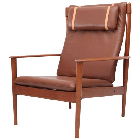 High Back Lounge Chair by Grete Jalk High Back Lounge Chair At 1stdibs