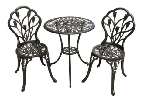 Aluminum Bistro Chairs Best Cast Aluminum Outdoor Patio Bistro Furniture Conversation Sets A Listly List