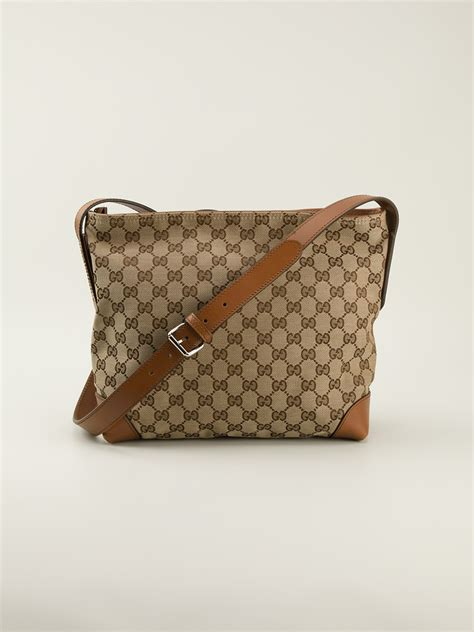 Gucci Gg Small lyst gucci small bridel gg shoulder bag in brown for