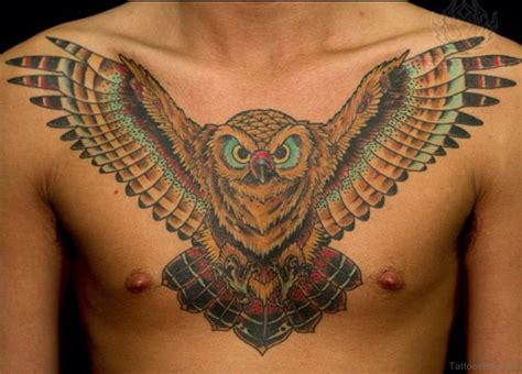 owl tattoo designs chest 61 brilliant owl tattoos for chest