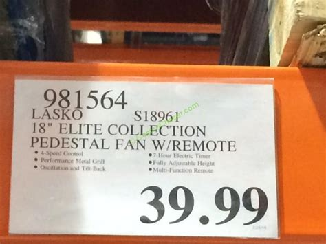 lasko pedestal fan costco lasko s18961 18 elite collection pedestal fan with remote